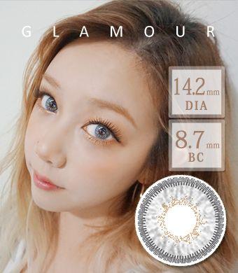 【3ヶ月カラコン】 Inno Color 3-Tone glamour white gray / 1396</BR>DIA:14.2mm, 度あり‐10.00まで