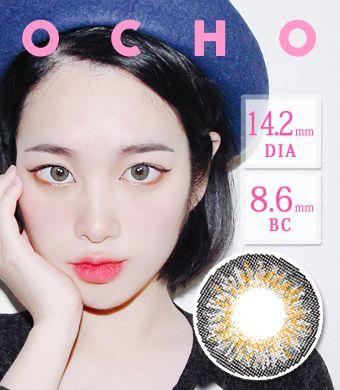 【シリコンハイドロゲル】オーチョOCHO GRAY / 1419</BR>DIA:14.2mm, 度あり‐8.00まで