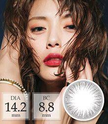 [1ヶ月/ シリコン] ANN Touch pearl silver タッチパール/1468</BR>DIA:14.2mm, 度あり‐6.00まで