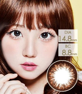 【1年カラコン】 グラングラン  Choco / 017</BR>DIA:14.8mm, 度あり‐8.00まで