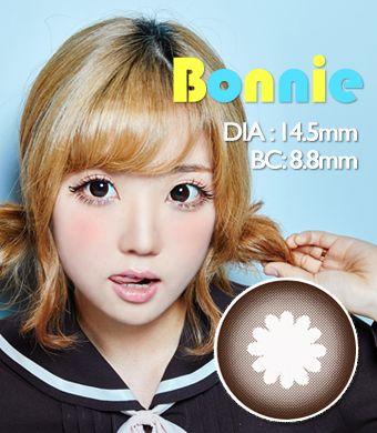 【1年カラコン】 Bonnie  Brown / 200</BR>DIA:14.5mm, 度あり‐10.00まで