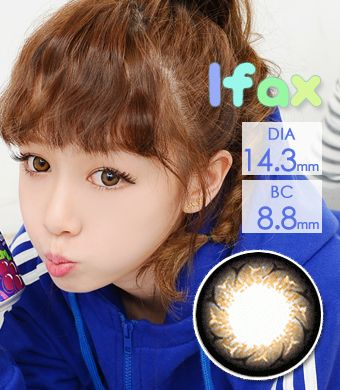 """<FONT COLOR=""""4697f2""""> [ Lucky! ¥790]</FONT>【1年カラコン】 Ifax(Y10) Brown / 131</BR>"""