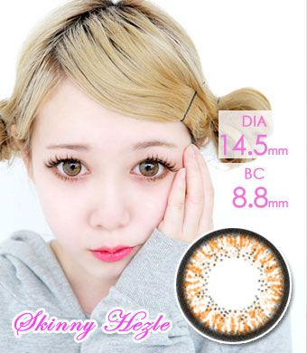 "BEST<FONT COLOR=""4697f2""> [ Lucky! ¥990]</FONT>【最長1年使用・両目2枚】 Skinny Hazle Brown / 157</BR>"