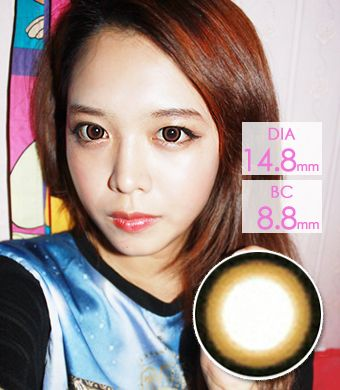 """<FONT COLOR=""""4697f2""""> [Lucky ¥990]</FONT>【1年カラコン】Sakura Brown / 005</BR>DIA:14.8mm, 度なし"""