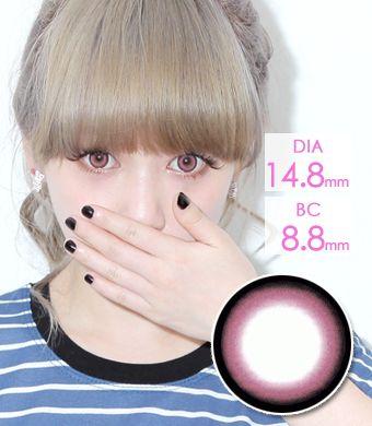 【1年カラコン】Xtra Pink / 007</BR>DIA:14.8mm, 度なし
