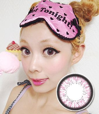 """<FONT COLOR=""""4697f2""""> [ Lucky! ¥990]</FONT>【1年カラコン】 Skinny Hazle Pink / 161</BR>"""