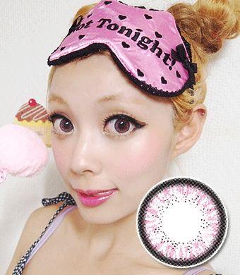 【1年カラコン】Skinny Hezle Pink / 161</BR>DIA:14.5mm, 度あり‐10.00まで