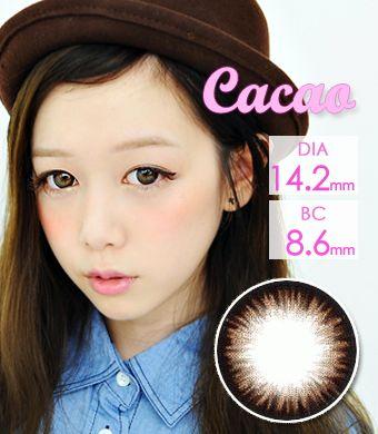 【1年カラコン】 マジックアイ(Magic eye)  カカオブラウン(Cacao Brown) / 043</BR>DIA:14.2mm, 度あり‐8.00まで