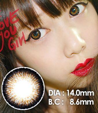 【1年カラコン】トップ プラス(Top Plus) ブラウン(Brown ) / 038</BR>DIA:14.0mm, 度あり‐8.00まで