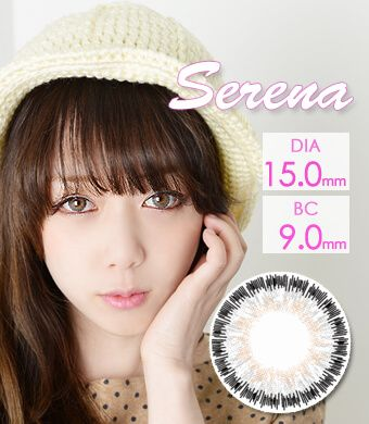 """HOT<FONT COLOR=""""4697f2""""> [ Lucky! ¥990]</FONT> 【1年カラコン】 Serena Gray / 244</BR>"""