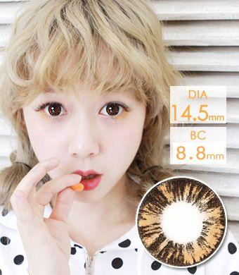 【1年カラコン】ニューカラブラウン (New Cara Brown) / 640</BR>DIA:14.5mm, 度あり‐8.00まで