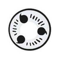 度あり【 最高品質 コスプレ用 2枚】 [写輪眼-T04 ] ナルト キャラクター 白眼 Itachi T04  /856