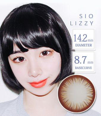 【シリコンハイドロゲル】 シオリッジ-モカ( SIO Lizzy Mocha ) / 1238</br>DIA:14.2mm, 度あり‐10.00まで