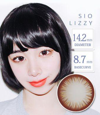 最高品質 Hydrogel 【1年カラコン・両目2枚】 SIO Lizzy  Mocha / 1238</br>