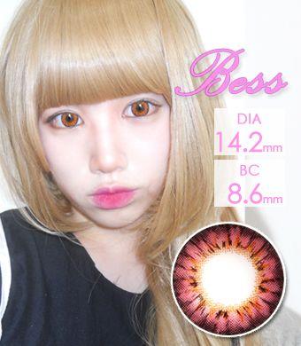 魔法のカラコン【1年カラコン】 Bess (A133) Pink /1255</br>
