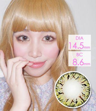 【1年カラコン】 ベリア VILLEA Brown / 1262</br>DIA:14.5mm, 度あり‐8.00まで