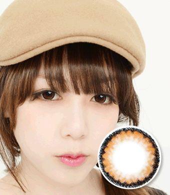 【1年カラコン】クラウドブラウン (Claoud brown) / 650 </BR>DIA:14.0mm, 度あり‐14.00まで