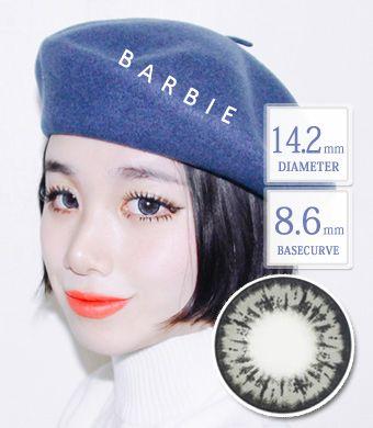 【1年カラコン】 Barbie Gray / 1351</BR>DIA:14.2mm, 度あり‐10.00まで