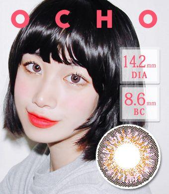 【シリコンハイドロゲル】オーチョOCHO PINK  / 1417 </BR>DIA:14.2mm, 度あり‐8.00まで