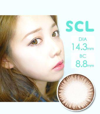 【乱視/12ヶ月カラコン/シリコンハイドロゲル】 Toric Scl C Brown Silicon Hydrogel / 1437 </BR>DIA:14.3mm, G.DIA:13.5mm