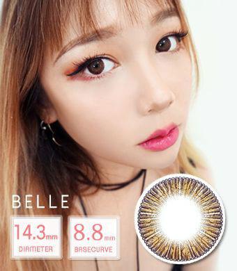 【12ヶ月カラコン】 Belle brown /1411 </BR>DIA:14.3mm, 度あり‐8.00まで