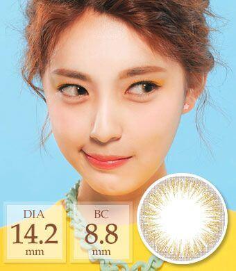 [[1ヶ月/ シリコン] ANN Touch pearl gold タッチパール / 1467</BR>DIA:14.2mm, 度あり‐6.00まで