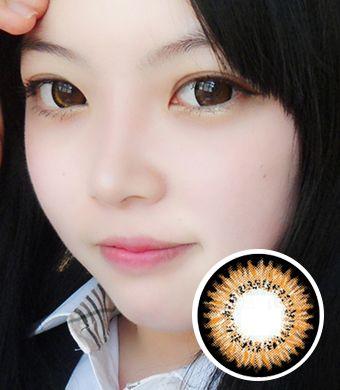 【1年カラコン】Audrey(AB200) Brown / 080</BR>DIA:14.3mm, 度なし