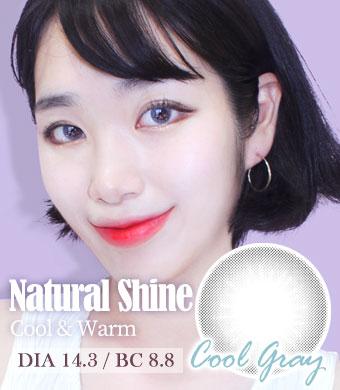 【1年カラコン】Natural Shine Cool Gray / 1534<br>