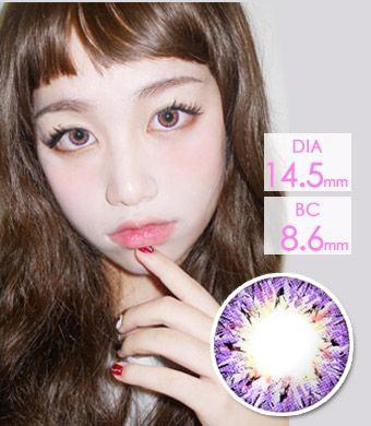 高発色☆キラキラ☆ 【最長1年使用・両目2枚】 ベリア VILLEA Violet /1266</br>