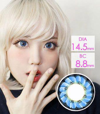 花型 【1年カラコン】 Caroline  (LF3) Blue / 1218</BR>