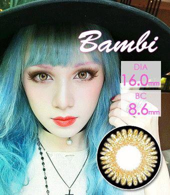【1年カラコン】VASSEN Bambi Brown / 977</BR>DIA:16.0mm, 度あり‐8.00まで