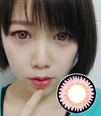 【1年カラコン】VASSEN Bambi Pink / 980</BR>DIA:16.0mm, 度あり‐8.00まで