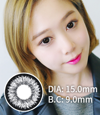 """ULTRA BIG<FONT COLOR=""""4697f2""""> [ Lucky! ¥990]</FONT> 【1年カラコン】 Daisy K17 Black / 716</BR>"""