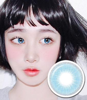 NEW【UVカット・最高品質】 【3ヶ月・両目2枚】 INNO 『アモール』 ブルー Amor Blue / 1676