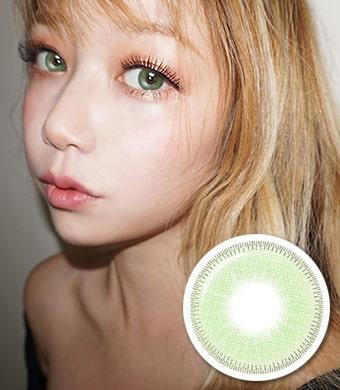 NEW【UVカット・最高品質】 【3ヶ月・両目2枚】 INNO 『アモール』 グリーン Amor Green / 1677