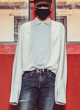 (Restock) Open Collar Shirts(3colors)