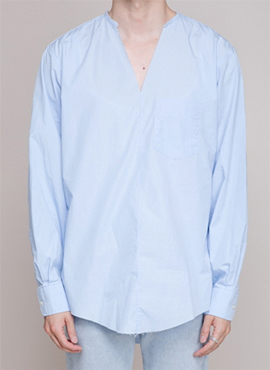 [Defond] V-neck Long Sleeve Shirts (5colors)