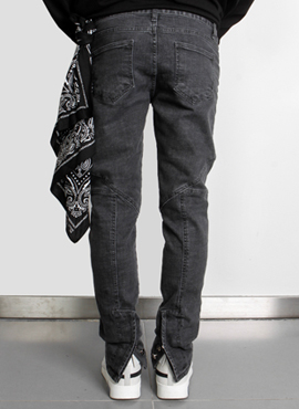 [Defond] Biker Denim Pants(2colors)